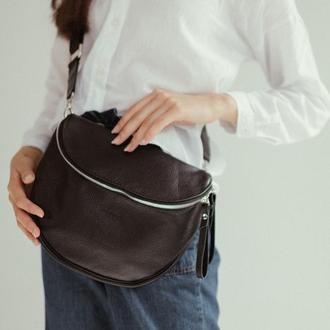 Стильная кожаная сумка на плечо, Кроссбоди из кожи, женская сумка на плечо  Стильная кожаная сумка