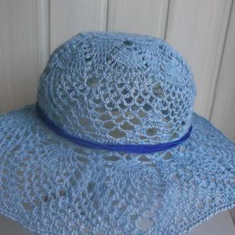 летняя вязаная крючком шляпа