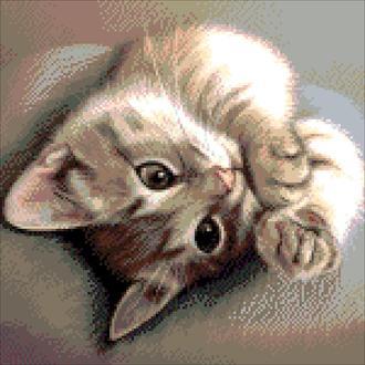 """Набор для вышивки бисером """"Крошка кот"""""""