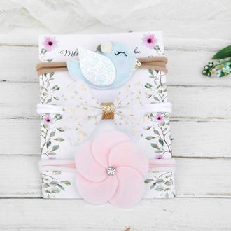 Набор повязок для девочки Повязки для малышки Подарок девочке