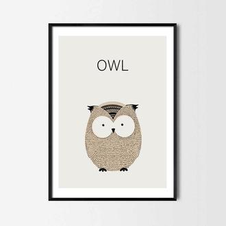 Постер для детской Owl