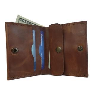 Коньячный кожаный кошелёк х5 (10 цветов)