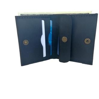 Чёрный кожаный кошелёк х5 (10 цветов)