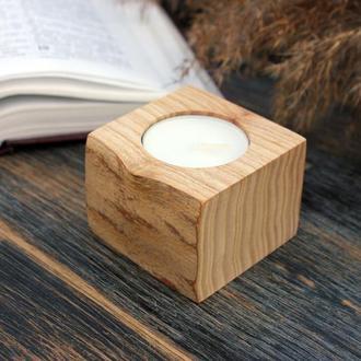 Подсвечник для чайной свечи из дерева