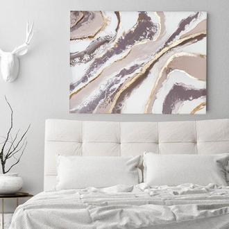"""Интерьерная картина """"Geode"""" 80*60 см абстракция поталь холст подарок офис"""