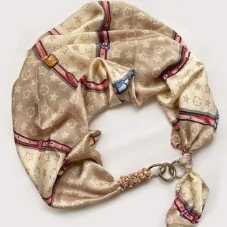 """Шелковый платок  """"Горная нимфа"""" от бренда my scarf, шейный платок, подарок женщине"""