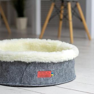 Лежак для собак и кошек из войлока Pets Lounge Круг, 45 см