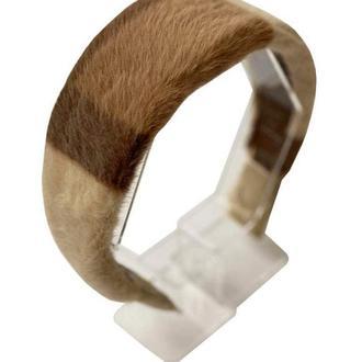 Обруч для волос из эко меха.