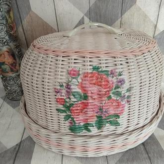 Хлебница с розами