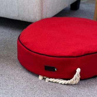 Лежак - подушка для собак и кошек Pets Lounge Pet Pillow Red, 60 см