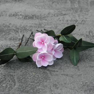 Шпильки для волос с розовыми цветами / Шпильки с маленькими цветами и листьями