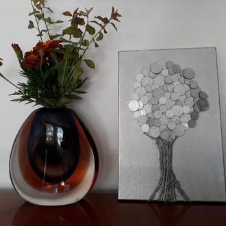 Монетное дерево картина на холсте