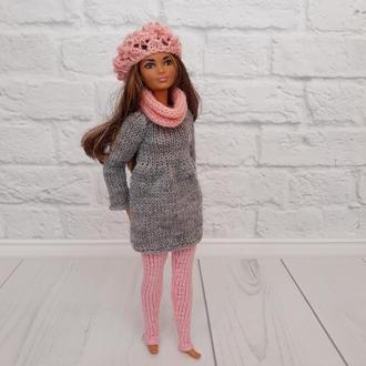 Одежда для Барби, комплект на Барби туника и штанишки, подарок девочке