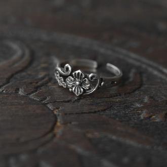 Себряное миди кольцо на фалангу или мизинец бохо винтаж 925