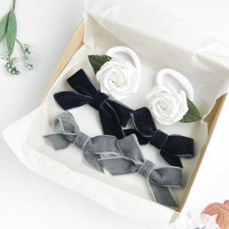 Набор заколок и резинок для девочки / Подарочный набор аксессуаров девочке / Заколки резинки