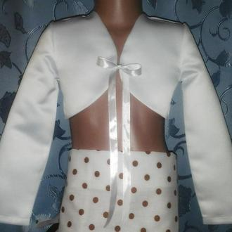 Детское атласное болеро с ленточкой, модель № 55