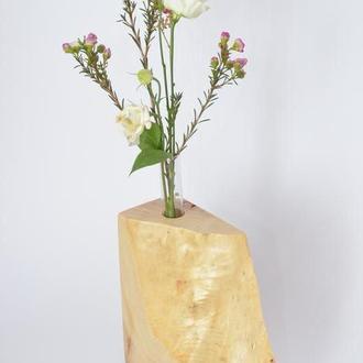 ваза из дерева, ваза для цветов, подставка для цветов, ваза из колб