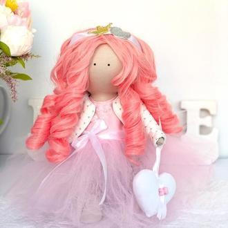 Кукла Принцесса с розовыми локонами