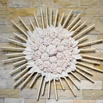 Панно на стену для интерьера Купить панно на стену в подарок Белый ловец снов