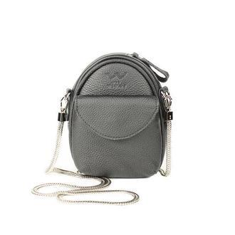 Мини-сумка Kroha черная зернистая