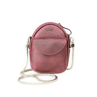 Мини-сумка Kroha бордовая винтажная