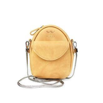 Мини-сумка Kroha желтая винтажная