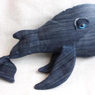 """Подушка-игрушка """"Синий кит"""". Мягкая игрушка. Интерьерная игрушка"""