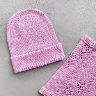 Осенняя шапочка снуд для девочки