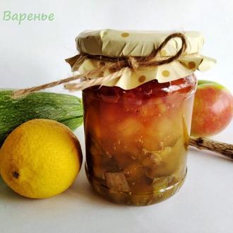 "Варенье ""Светофор"" яблоко + лимон + кабачок 250 мл"