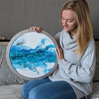 ПОД ЗАКАЗ. Морские картины в технике Fluid Art