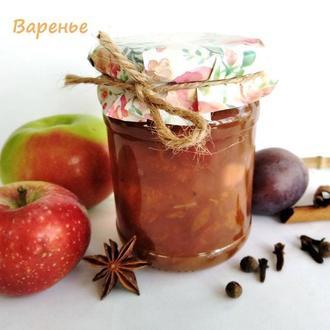 """Варенье """"Глинтвейн""""  яблоко + розовая слива 250мл"""