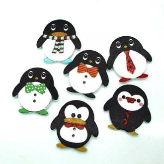 Пуговицы Пингвины