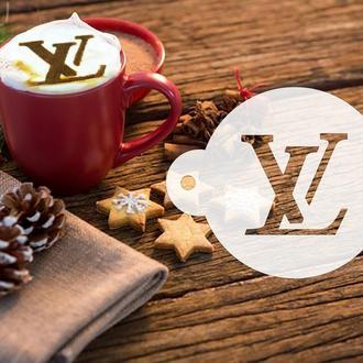 Трафарет с логотипом LV, трафарет для кофе, торта, трафарет для печенья, трафарет для аэрографии