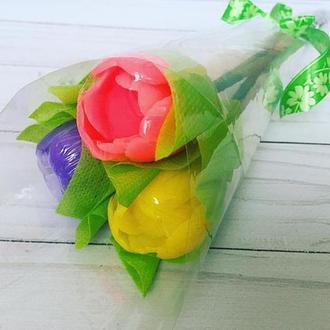 """Сувенирное мыло """"Букет тюльпанов"""""""