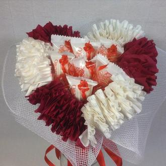 """Конфетный букет с Раффаэлло """"Сердце"""""""