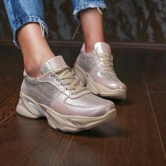 Женские кожаные кроссовки, с 36 по 41 размер