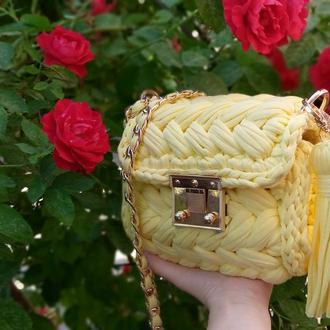 Вязаная сумка зефирка