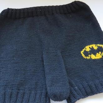 Вязаные шорты Бэтмен