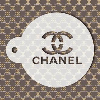 Трафарет с логотипом Chanel, трафарет для кофе, торта, трафарет для печенья, трафарет для аэрографии