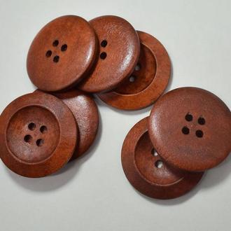 Пуговицы деревянные 3см