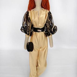Кукла в стиле Тильда Ребекка 48см в коробке
