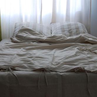 """Лляна постільна білизна, комплект """"Півтораспальний"""""""