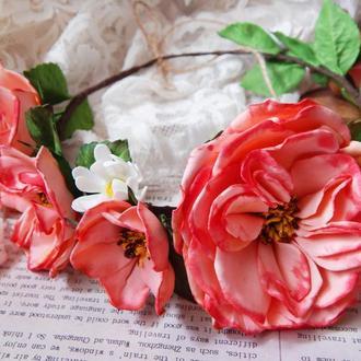 Ободок віночок обруч садові троянди