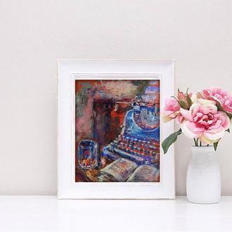 """Картина """"Натюрморт в винтажном стиле"""". Масляная живопись. Идея для подарка"""