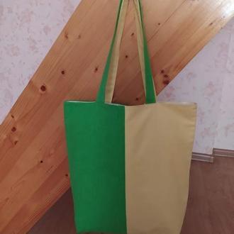 """Сумка шоппер """"Яблочко"""" веселый дизайн"""