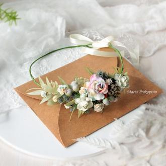 Венок с цветами