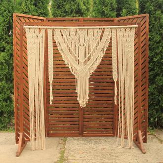 Деревянная арка, Деревянная ширма, Макраме