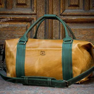 Спортивная кожаная сумка. Дорожная кожаная сумка