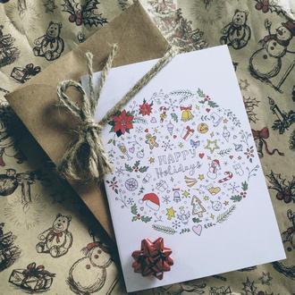 "Открытка ""Happy Holidays"""