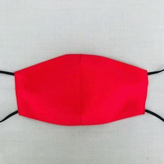 Маска красная  многоразовая 100%